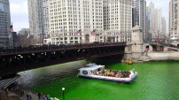 St Patrick's day celebration in Chicago.